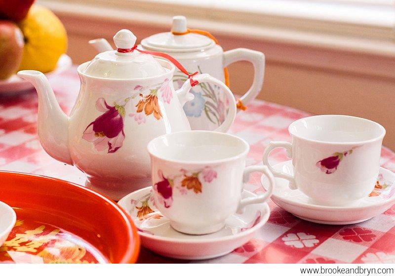 tea set for bride's side of the family, san jose ca tea ceremony